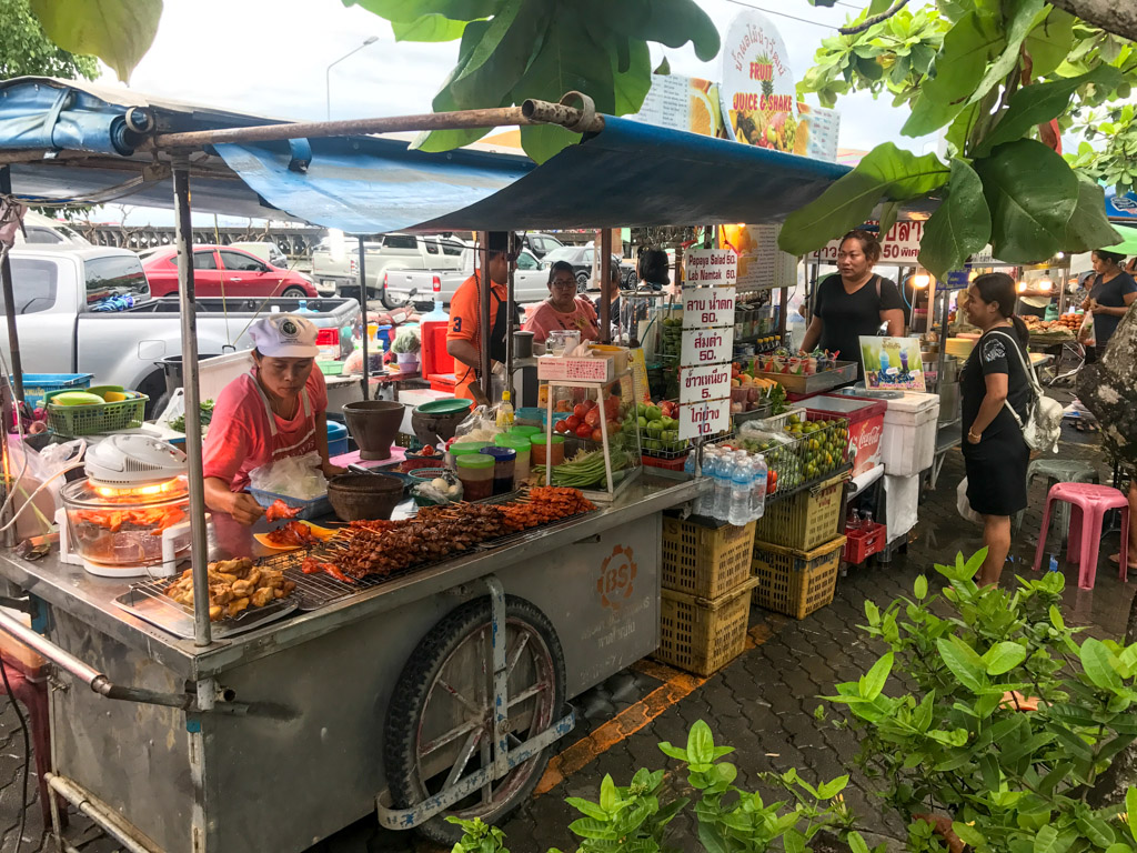 Marché traditionnel Thailande